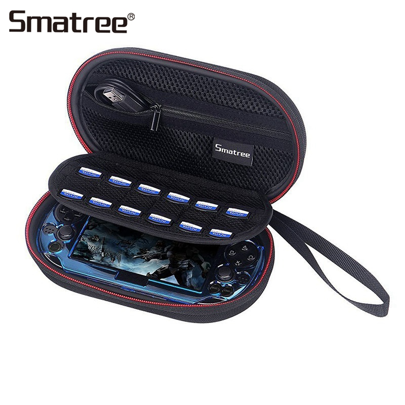 Smatree Storage Hard Carrying Case for PS Vita 1000/2000 Protective Games Bags Travel Bag Boxes for Sony PSV 1000/2000 цена и фото