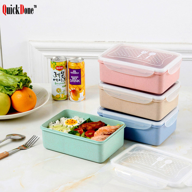QuickDone Wheat Straw Lunch Box Microwave Bento Food Biodegradable Storage Container Boxes Portable With Lid Dinnerware  sc 1 st  AliExpress.com & QuickDone Wheat Straw Lunch Box Microwave Bento Food Biodegradable ...