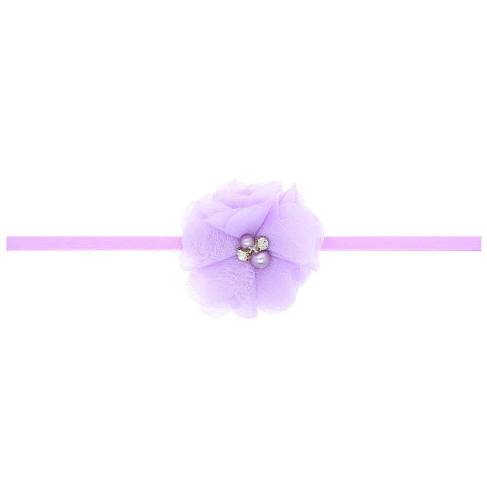 1 חתיכה מאיה סטפן ריינסטון פרח ילדי שיער ראש להקת אביזרי תינוק יילוד ילדה שיער חבל סרט כיסוי ראש Headwear