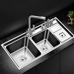 Fregadero de doble espesor, fregadero de cocina de acero inoxidable, cocina sobre encimera o fregaderos Udermount, lavabo para lavar verduras