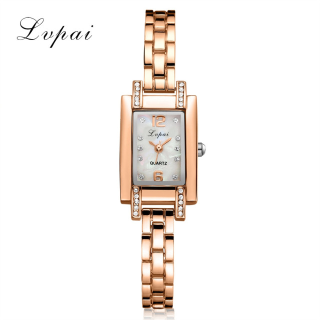 Lvpai Brand Luxury Rose Gold Quartz-Watches Women Fashion Bracelet Watch Ladies