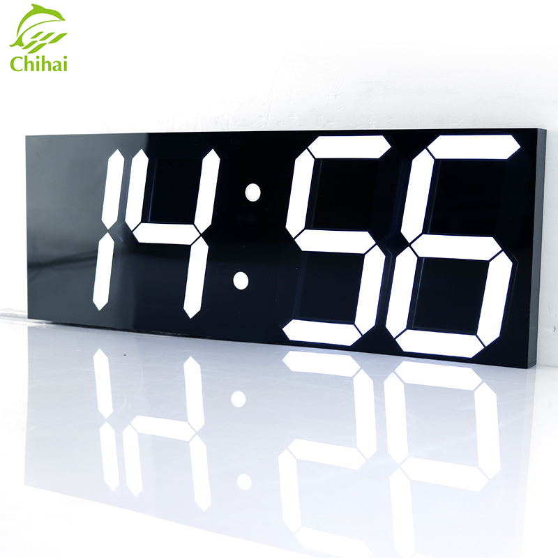 LED Digital Wall Clock Wake Up Light Large Wall Clock Electronic Stopwatch Timer Weather Station New