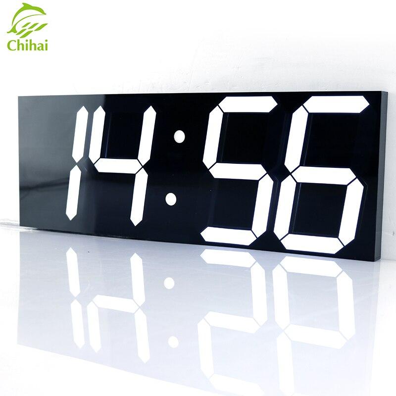 Светодиодный настенный светильник с цифровыми часами, большие настенные часы, электронный секундомер, таймер, Погодная станция, Новогоднее