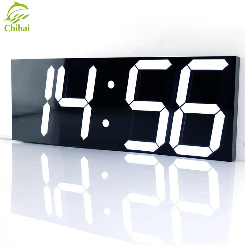 Wake Up Luz LEVOU Relógio de Parede Digital Grande Relógio de Parede Estação Meteorológica Ano Novo Decoração Eletrônico Cronômetro Relógio Mural