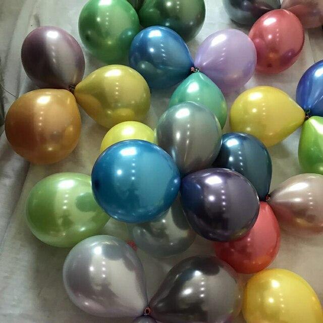 50pcs set 10 metallic luster chrome like light reflection colored