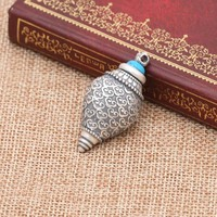 925 Sterling Silver Nectar pills Vintage Jewelry lection Tibetan Sarira Pendant Memorial Buddhist Holder conch Ash Urn Necklace