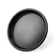 LISM Thicken 7 inch Carbon Steel non-stick Pizza Plate Round PIZZA DIY Household Baking Tray Mold oven