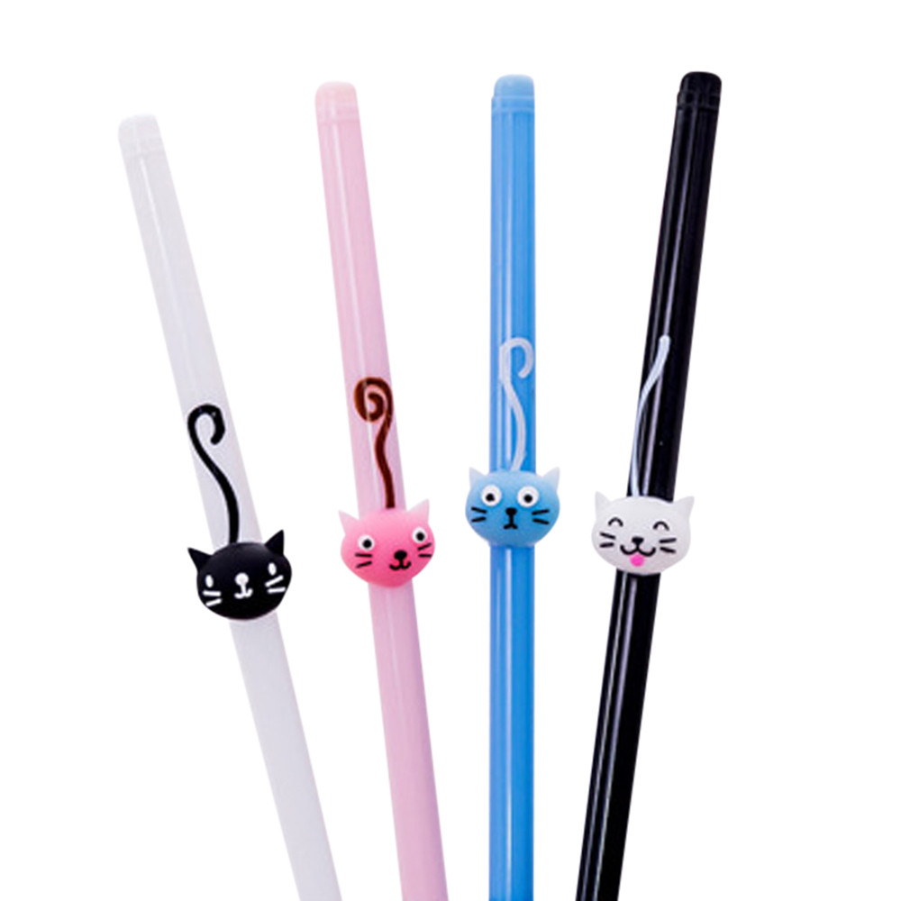 Creative Gel Pens 4Pcs Ball Pen Pencil Cats Gel Cute Stationary Pen Ballpoint Ink Office Suppliers Pen School Tools D329Creative Gel Pens 4Pcs Ball Pen Pencil Cats Gel Cute Stationary Pen Ballpoint Ink Office Suppliers Pen School Tools D329