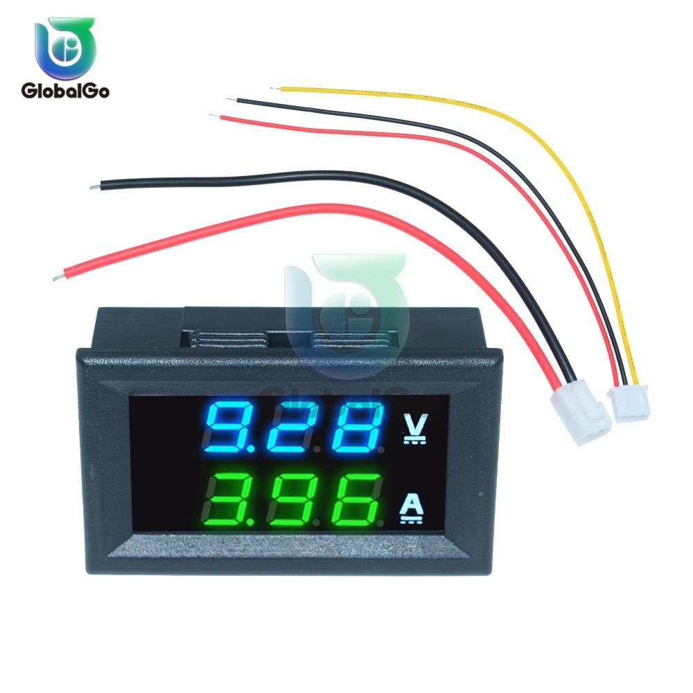 DC 100 в 10A мини 0,28 дюйма светодиодный цифровой вольтметр постоянного тока Амперметр Ампер Вольт сила тока в амперах метр тестер Амперметр авт...