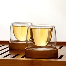 Bodum дизайн Двойные Стенки Чашки чай чашка Бамбуковый Поднос Набор анти-горячий ТАСС кафе ароматизированный чай кофе чашки Copos Tazas Bardak Xicara барабанная