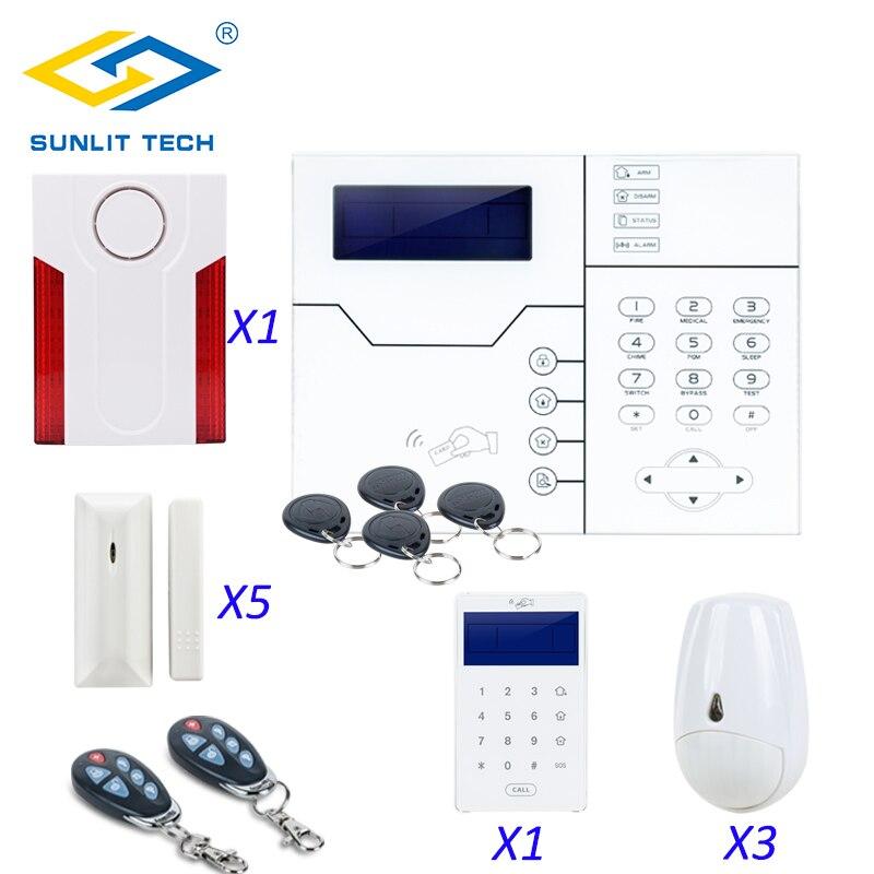 Фокус Беспроводной TCP IP GSM сигнализация системы Дистанционное управление Умный дом охранной безопасности двери Pet иммунной движения PIR Сень