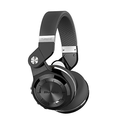 Casque Bluetooth sans fil Bluedio Turbine T2 avec micro, pilotes 57mm/pliage rotatif