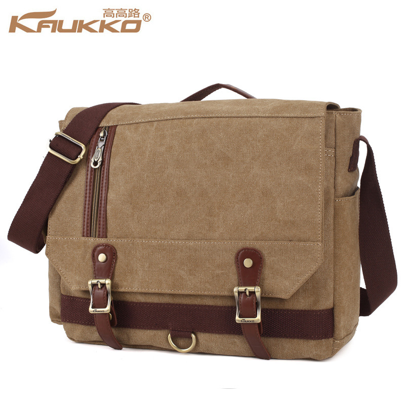 New Arrive Kaukko Crossbody Canvas Bags for colleag Student Duffle Large Capacity laptop Bag Kaukko Bag brown rucksack brown ruc outdoor multifunction camping tools axe aluminum folding tomahawk axe fire fighting rescue survival hatchet