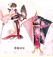Fate grand order Ryougi Shiki cosplay costume Halloween anime Japanese Kimono dress cloth free shipping Lycorisradiata
