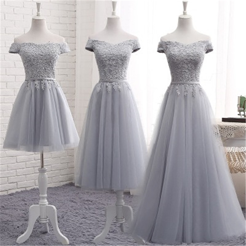 Mingli Tengda Champagne Lace Elegant Bridesmaid Dress Boat Nevk Appliques Bridesmaid Dresses vestido para madrinha A-Line Dress