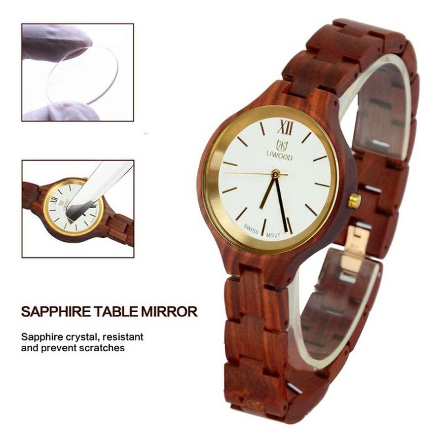 Новейшие женские часы люксовый бренд 2018 женские деревянные часы для женщин женские кварцевые часы женские наручные часы relogio feminino - 4