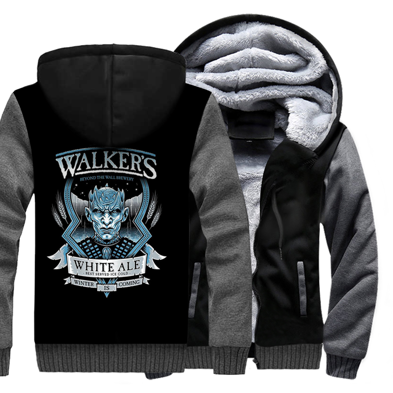 White Walkers The Night King Hoodies Game Of Thrones 2019 Hot Winter Warm Jackets Men Fleece Sweatshirts Plus Size Outwear 3D