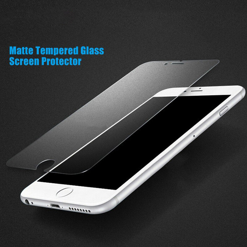 DREAMYSOW Matte-Felt Screen protector tempered glass film for iphone X 8 7 plus 6PLUS 6sPLUS 6 6S SE 5S 5 5c 4 4S frosted film