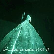 СВЕТОДИОДНЫЕ светящиеся волоконно-оптические Свадебные платья Красочный Светодиодный светильник для сцены, сцены, события, одежда с подсветкой, вечерние платья