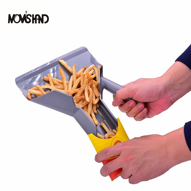 Comerical Plastic Chips Scoop Food French Fries Shovel Handle Fry Scoop форма для нарезки арбуза