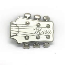 Западная ковбойская музыкальная гитара металлическая пряжка износостойкая модная пряжка для ремня подходит для 4 пряжки ремня