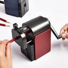 Sacapuntas Retro de doble agujero para chico regalo para estudiantes Deli, cortador de lápiz mecánico mate, papelería de oficina, suministros escolares