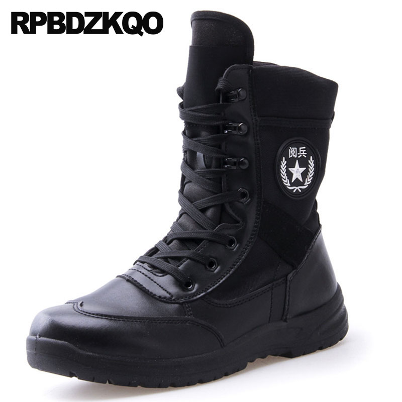 Army Plus Size High Sole Casual Platform Waterproof Military Black Boots Combat Thick Soled Ankle Designer Shoes Men QualityArmy Plus Size High Sole Casual Platform Waterproof Military Black Boots Combat Thick Soled Ankle Designer Shoes Men Quality