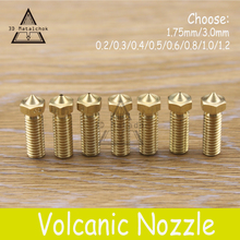 1PCS Brass copper Volcano Nozzle 0.2mm/0.3mm/0.4mm/0.6mm/0.8mm/1.0mm/1.2mm 1.75mm/3mm Lengthen Crater hotend,3D Printer PLA/ABS