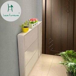 Louis mode armoires à chaussures benne 17 cm Ultra-mince Simple moderne porche Rack économie Hall grande capacité casiers