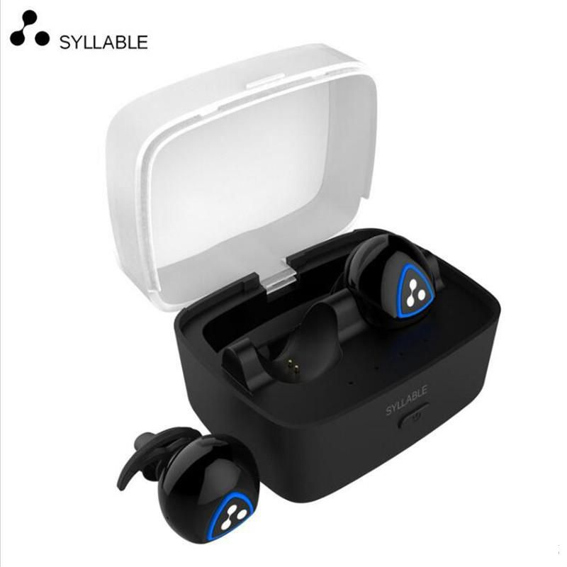 100% original Syllable D900S Bluetooth Stereo Earphone Wireless Music Headset Handsfree Mini Earbud fone de ouvido to iphone 7 8 ttlife mini bluetooth earphone usb car charger dock wireless car headphones bluetooth headset for iphone airpod fone de ouvido