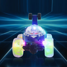 Electric Mini RC Car Radio Controlled Stunt Cars Model Flashing Light Music 360 Degree Drift Rotating Tumbling Vehicle Kids Toys