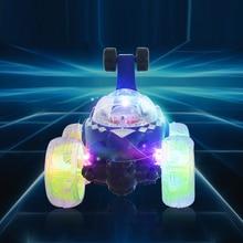 חשמלי מיני RC רכב רדיו מבוקר מכוניות דגם מהבהב אור מוסיקה 360 תואר להיסחף מסתובב מתגלגל רכב ילדים צעצועים
