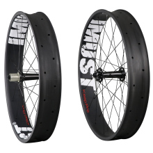 690 clincher fatbike carbon wheels tubuless ready 26 inch snow rim 90mm width High end professional for fat bike(China)