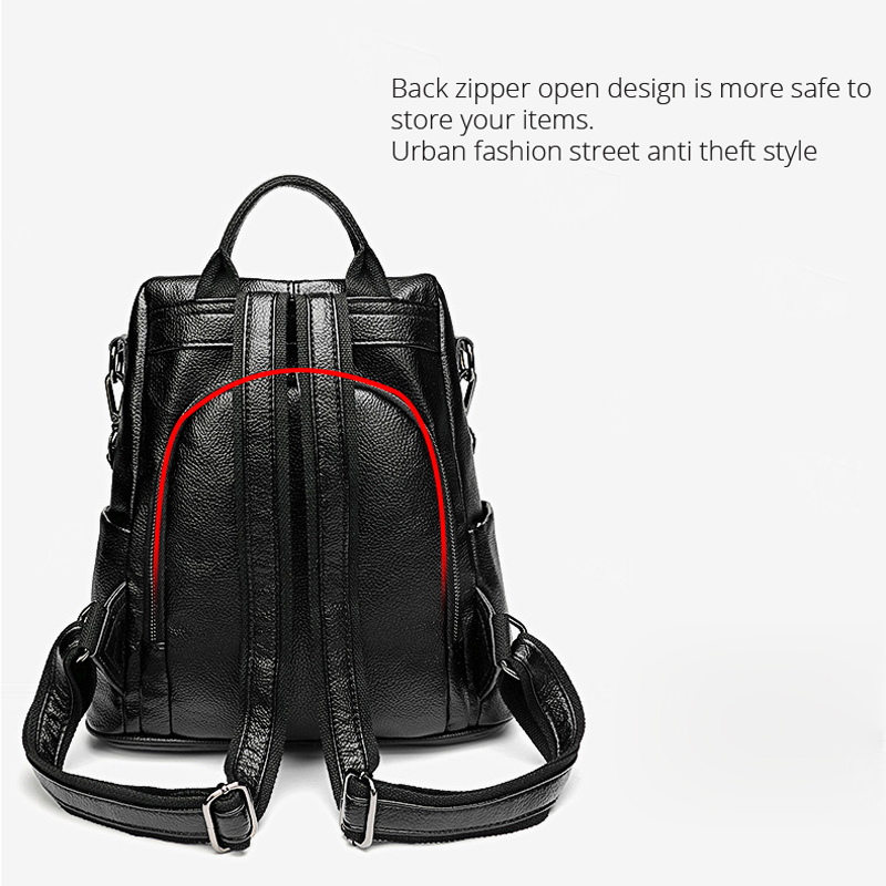 Image 5 - POMELOS, женский рюкзак, высокое качество, мягкий, из искусственной кожи, Противоугонный рюкзак для женщин, водонепроницаемый рюкзак для женщин, уличный стиль, рюкзак-in Рюкзаки from Багаж и сумки
