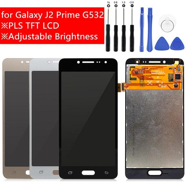 Para Samsung Galaxy J2 primer pantalla LCD asamblea de pantalla táctil digitalizador pantalla LCD para la galaxia J2 primer G532 G532F G532M partes