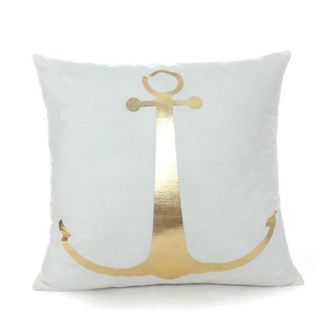 Golden Sea Print Cushion Cover 3