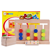 Montessori materials Wood Dominoes Toys for Children Preschool Teaching Educational Board Wooden Math Kids Toys W185 sensorial montessori sets educational toys infant toddlers box board puzzles teaching wood game and toys preschool home ses02 3