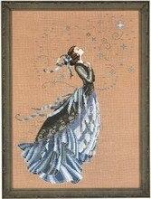 Piękny, piękny zestaw do haftu krzyżykowego Stargazer gwiazda wróżka bogini przewodnik Nora