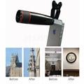 Hd con zoom óptico 12x telescopio teleobjetivo para sony nokia lenovo lg asus zte meizu teléfono lente de la cámara con clips para doogee