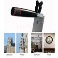 Hd zoom óptico de 12x telescópio telefoto lentes para sony nokia lenovo lg meizu asus zte telefone lente da câmera com clips para doogee