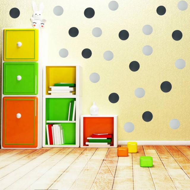 Online Shop 4 7 10cm Polka Dot Wall Stickers Gold Art Wall Decals ...