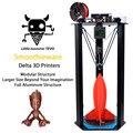 2017 Área de Impressão Mais Recente TEVO Delta D340xH500mm OpenBuilds Extrusão/Smoothieware/MKS TFT28/Bltouch Alta Velocidade Impressora 3D kits
