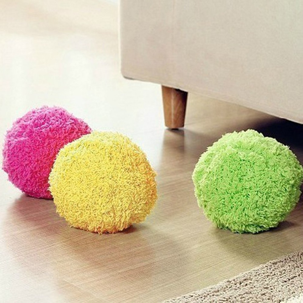 Automatic Rolling Ball Electric Powered Cleaner Mini Sweeping Robot Vacuum Cleaner Toy Dust Cleaner Household Microfiber Ball