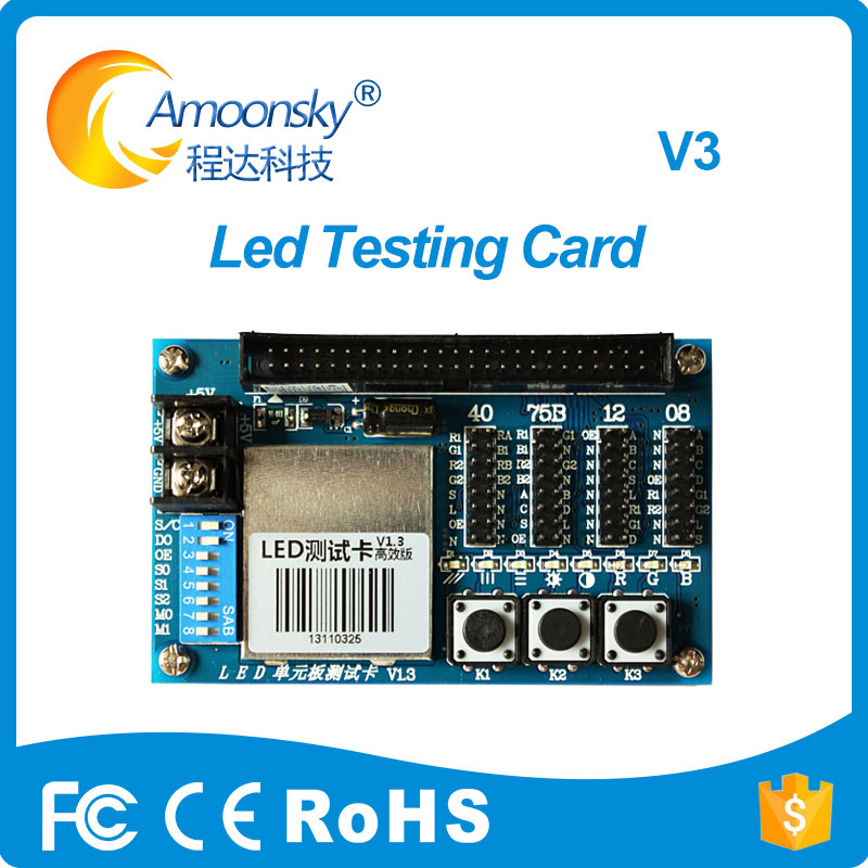 Hot Multi-function Led Testing Card AMS-V3 For Video Display Led Screen Unit Module