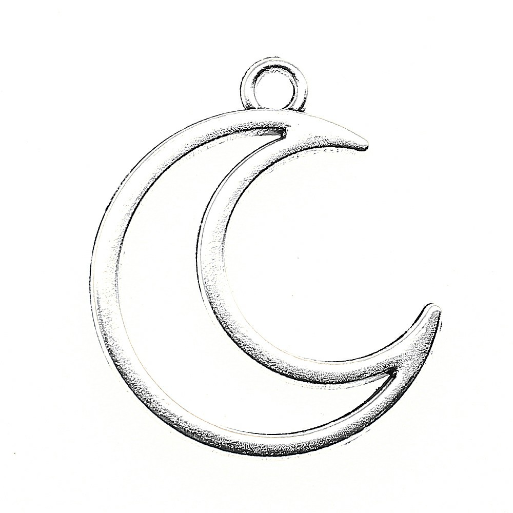 10pcs Charm Moon Hollow Moon Pendant Charms For Jewelry