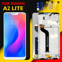 Xiaomi Mi A2 Lite LCD 디스플레이 멀티 터치 패널 Redmi 6 Pro LCD 디지타이저 어셈블리 교체 용 예비 부품