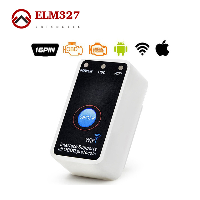 Super Mini ELM 327 Wifi with Switch ELM327 OBD2 OBDii CAN-BUS Diagnostic Tool Works on Android Symbian Windows