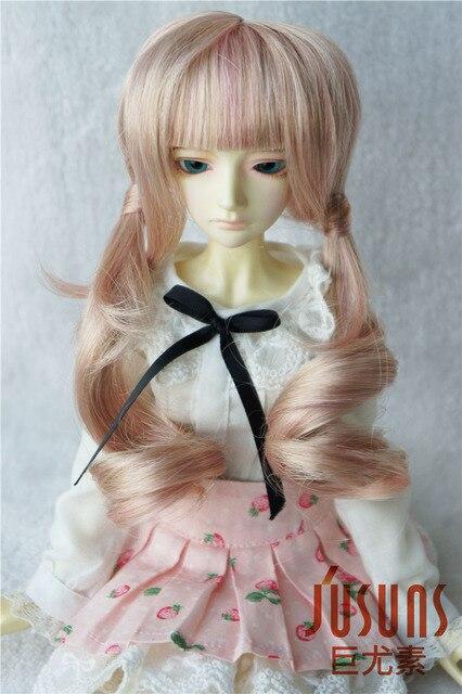 JD186 1/4  BJD doll wigs  7-8 inch MSD double pony  toy wigs