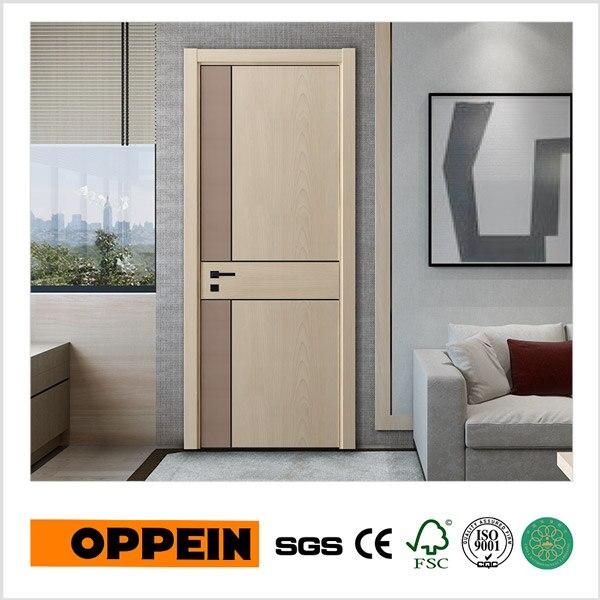 oppein serie de moda grano de madera mdf interior puerta cpl ydgd