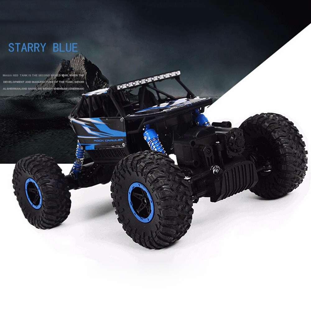 Hot RC Car 4WD 2.4G 4WD 4x4 Conducción Rock Crawlers Car Double Motors Drive Bigfoot Cars Modelo de Control Remoto Off-Road Vehículo de juguete
